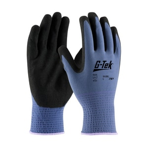 Protective Industrial Products G-Tek™ L Size Nitrile Work Gloves with Nylon Liner and Knit Wrist in Purple P34500