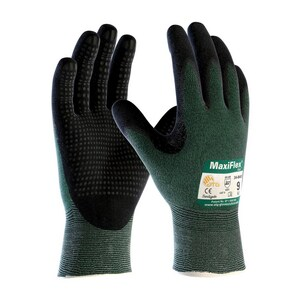 MaxiFlex® Cut™ M Size Micro Foam and Nitrile Coated Glove in Green and Black P348443M at Pollardwater