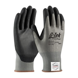 G-Tek® PolyKor® Xrystal® M Size Seamless Gloves in Black and Grey P16X540M