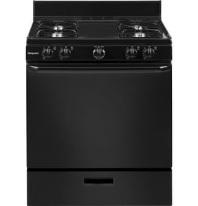 GE Appliances 30 in. 4-Burner Freestanding Gas Range in Black GRGBS100DMBB