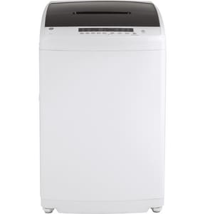General Electric Appliances 2.8 cf 8-Setting Stationary Washer with Stainless Steel Basket in White GGNW128SSMWW