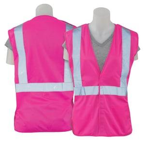 ERB Safety XL Size Polyester Break-Away Vest in Hi-Viz Pink E62230 at Pollardwater
