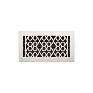 Signature Hardware Yuri 6 x 10 in. Residential Brass Floor Register in Brushed Nickel SH445217
