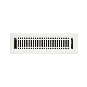 Signature Hardware Contemporary 2-1/4 x 12 in. Residential Steel Floor Register in White SH226185