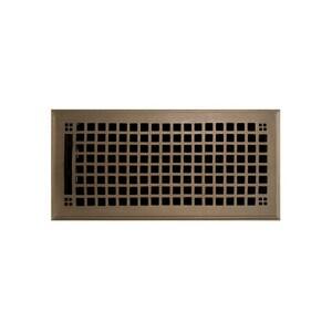 Signature Hardware 6 x 12 in. Floor Register in Antique Brass SH282248