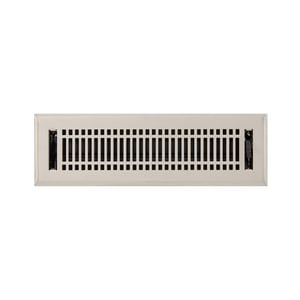 Signature Hardware Contemporary 2-1/4 x 12 in. Residential Steel Floor Register in Brushed Nickel SH226188