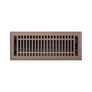 Signature Hardware Contemporary 4 x 14 in. Residential Steel Floor Register in Oil Rubbed Bronze SH226223