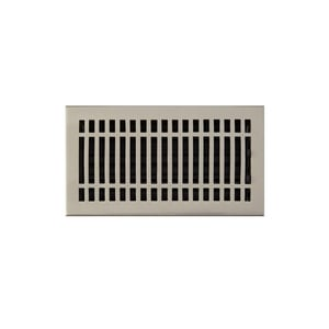 Signature Hardware Contemporary 6 x 10 in. Residential Brass Ceiling & Sidewall Register in Brushed Nickel SH305548