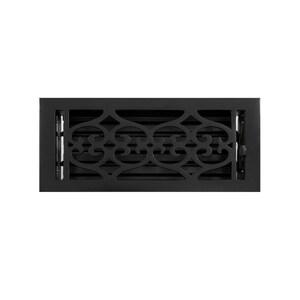 Signature Hardware 4 x 10 in. Floor Register in Black Cast Iron SH345931