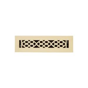 Signature Hardware Yuri 2-1/4 x 12 in. Residential Brass Floor Register in Brushed Brass SH445186
