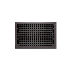 Signature Hardware Mission 8 x 12 in. Residential Brass Floor Register in Oil Rubbed Bronze SH436901