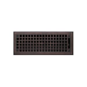 Signature Hardware Mission 4 x 10 in. Residential Brass Ceiling & Sidewall Register in Oil Rubbed Bronze 915125-410