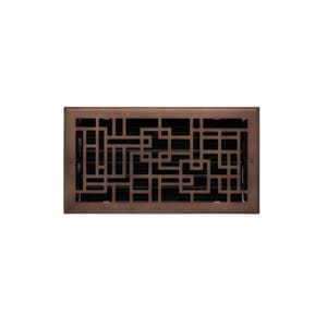 Signature Hardware Baer 6 x 14 in. for Residential Floor Register in Oil Rubbed Bronze Steel SH435455
