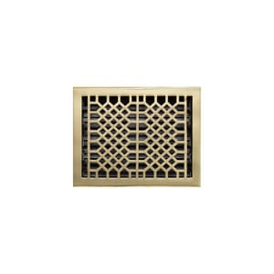 Signature Hardware 8 x 10 in. Floor Register in Polished Brass SH397825