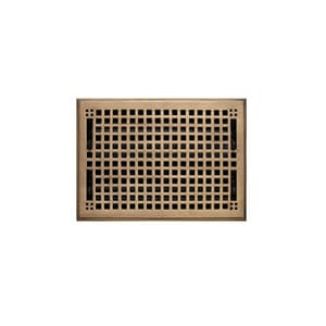 Signature Hardware 8 x 12 in. Floor Register in Antique Brass SH302215