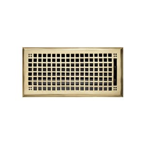 Signature Hardware Mission 6 x 14 in. Residential Brass Ceiling & Sidewall Register in Polished Brass 915125-614