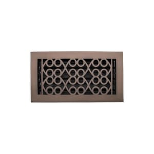 Signature Hardware Yuri 6 x 14 in. Residential Brass Floor Register in Oil Rubbed Bronze SH445229