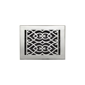 Signature Hardware 6 x 8 in. Floor Register in Polished Chrome Brass SH345327