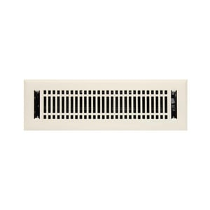 Signature Hardware Contemporary 2-1/4 x 12 in. Residential Steel Floor Register in Almond SH226187
