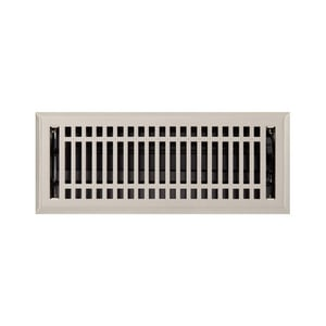 Signature Hardware Contemporary 4 x 10 in. Residential Steel Ceiling & Sidewall Register in Brushed Nickel SH253742