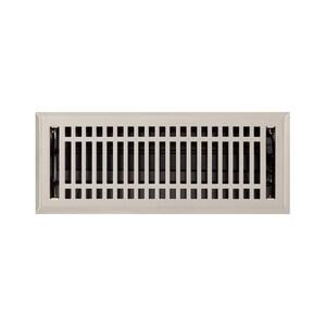 Signature Hardware Contemporary 4 x 14 in. Residential Steel Floor Register in Brushed Nickel SH226220