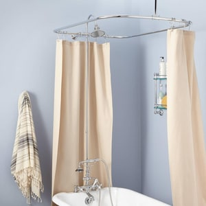 Signature Hardware English Three Handle Shower System in Chrome SH428568