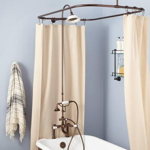 Signature Hardware English Three Handle Shower System in Oil Rubbed Bronze SH428717