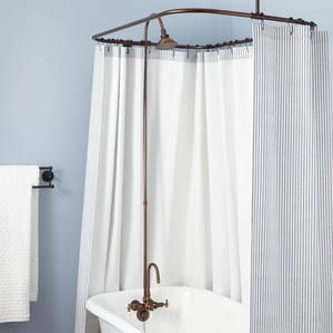 Signature Hardware Three Handle Shower System in Oil Rubbed Bronze SH120217