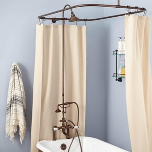 Signature Hardware English Three Handle Shower System in Oil Rubbed Bronze SH428627