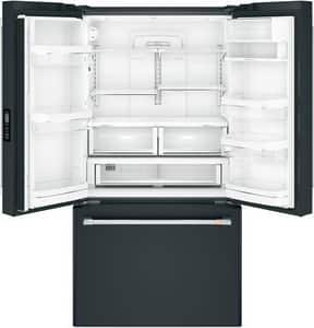 General Electric Appliances Café™ Series 69-7/8 x 35-3/4 in. 23.1 cf Built-in French Door Refrigerator in Matte Black GCWE23SP3MD1