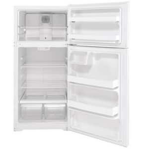 GE Appliances 15.6 cf Freestanding Top Mount Refrigerator in White GHPS16BTNRWW