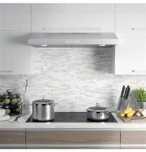 General Electric Appliances Profile™ Under-Cabinet Range Hood in Stainless Steel GPVX7360SJSS