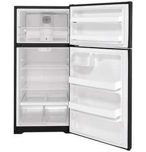GE Appliances 15.6 cf Freestanding Top Mount Refrigerator in Black GHPS16BTNRBB