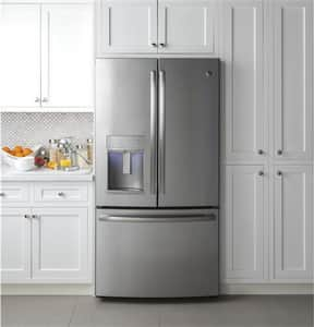 General Electric Appliances Profile™ French Door Refrigerator with Hands Free Autofill in Stainless Steel GPYE22KSKSS