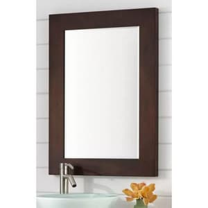 Signature Hardware Faron 24 in. Rectangular Vanity Mirror in Espresso SH425645