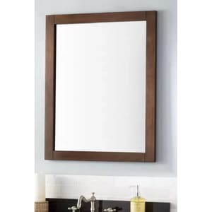 Signature Hardware Lander 24 in. Rectangular Vanity Mirror in Antique Coffee SH427141