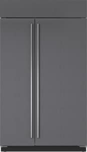 Sub Zero 48 in. wide 28 cf Side-By-Side Refrigerator With Dispenser in Stainless Steel SBI48SIDO