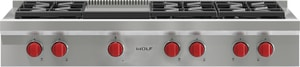 Wolf Range 48 in. 6-Burner Natural Gas Rangetop With Griddle WSRT486G