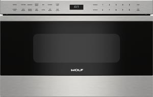 Wolf Range E Series 24 in. Transitional Microwave Drawer in Stainless Steel WMD24TES