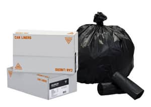 Westcraft HeviTough 38 x 58 in. 60 gal 1.8 mil Low Density Can Liner in Black (Case of 100) WCL385818KR at Pollardwater