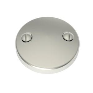 Brasstech 2-Hole Brass Faceplate for Waste & Overflow Satin Nickel B266/15S