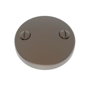 Brasstech 2-Hole Waste and Overflow Face Plate with Screw in English Bronze B266/07