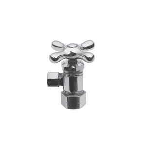Brasstech Model 403X 1/2 in x 3/8 in Cross Handle Angle Supply Stop Valve in Polished Chrome B403X/26
