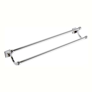 Ginger USA Quattro 24 x 6-1/4 in. Double Towel Bar in Polished Chrome G182224PC