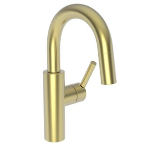 Newport Brass East Linear Single Lever Handle Bar Faucet in Satin Brass - PVD N1500-5223/04