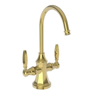 Newport Brass Metropole 1 gpm 1 Hole Deck Mount Hot and Cold Water Dispenser with Double Lever Handle in Polished Gold - PVD N1200-5603/24
