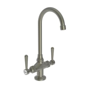 Newport Brass Astaire Prep Sink or Bar Faucet with Double Lever Handle in Gun Metal N1668/14