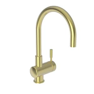 Newport Brass East Linear Single Lever Handle Bar Faucet in Satin Brass - PVD N2008/04