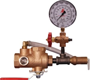 AGF Manufacturing TESTanDRAIN® 1 in. NPT Bronze Test and Drain Sprinkler Valve with 7/16 in. Orifice AGF406T1G