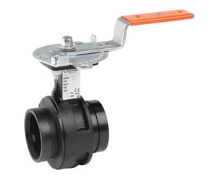 Victaulic Series 761 4 in. Ductile Iron EPDM Locking Lever Handle Butterfly Valve VV040761SE2